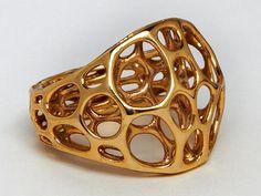 Impresión 3D bañada en oro
