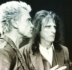 billy idol with alice cooper