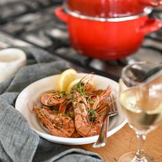 Spicy and smoky, Spanish paprika lends warmth and a delicious depth of flavour to tender steamed prawns. Snack Recipes, Cooking Recipes, Snacks, Recipe Email, Lemon Wedge, Smoked Paprika, Mussels, Prawn, Seafood