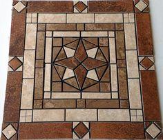 "24"" Mosaic Tile Medallion Design Marble Ceramic Floor Wall Backsplash Deco Foyer | eBay - $270"
