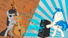 Watch more like Vinyl Scratch And Octavia Wallpaper