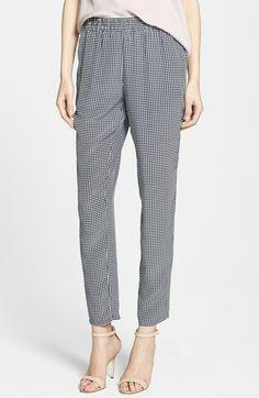 Joie 'Talina B' Check Print Silk Pants available at #Nordstrom