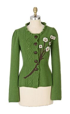 Wildflower Cardigan - front--sleepin on snow--have it--anthropologie.com