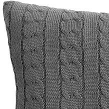 Cable Knitted Cushion 45 x 45cm - Grey