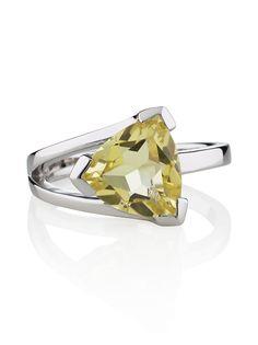 Valentine Lemon Quartz Sterling Silver Ring