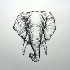 elephant dotwork tattoo - Google Search