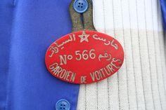 badge gardien de voitures Maroc, Moroco parking