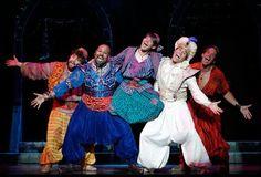Aladdin, Omar, babkak, kassim, and the genie