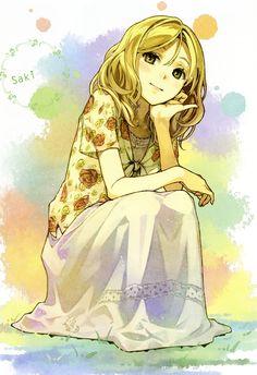 ~Mizukoshi Saki, Natsuiro Kiseki anime illustration by Hidari (Japanese illustrator)