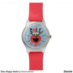 Shop Elmo Happy Smile Watch created by SesameStreet. Personalize it with photos & text or purchase as is! Elmo Sesame Street, Presents For Kids, Big Bird, Happy Smile, Cool Gifts, Fashion Accessories, Watch Ad, Accounting Logo, Fans