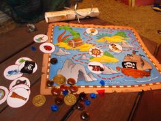 A Treasure Hunt Pirates and Mermaids - treasure map for children between 4 and 5 years old