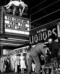 """Scene from the movie """"The Seven Year Itch"""". Marilyn Monroe and Tom Ewell! Great movie with a Creature tie in. Gina Lollobrigida, 7 Year Itch, Famous Monsters, Black Lagoon, Sci Fi Movies, Horror Movies, Scary Movies, Horror Art, Blond"""