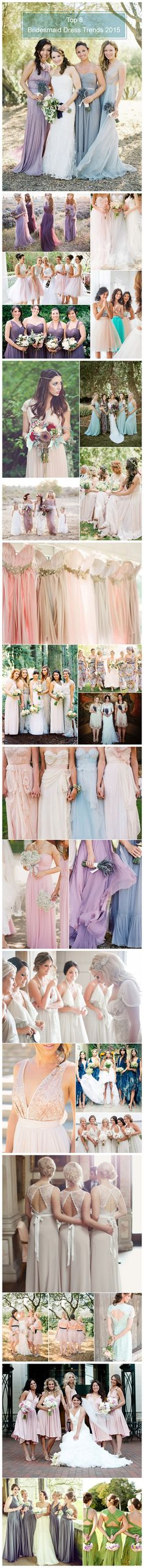 top 8 bridesmaid dresses trends for wedding 2015