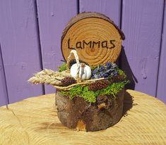 Pagan Altar, Wiccan, Witchcraft, St Brigid Cross, Harvest Basket, Home Altar, Beltane, White Pumpkins, Autumn Trees