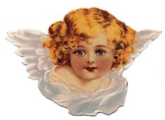 Victorian cherub from antique greeting card