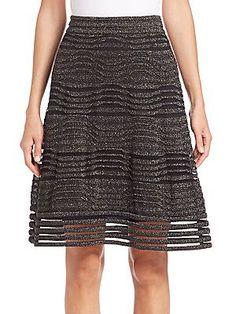 M Missoni Metallic Skirt - Black - Size 44 (8)