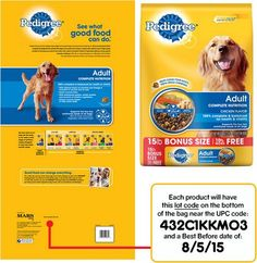 2014 Pedigree Dog Food Recall Package Details, http://www.dogfoodadvisor.com/dog-food-recall/pedigree-dog-food-recall-2014/