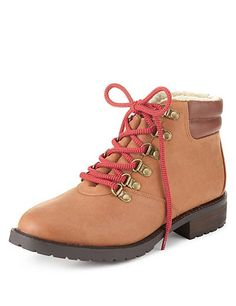 Lace Up Hiker Ankle Boots with Insolia Flex® | M&S