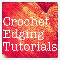 How to Finish Crochet Blankets - There are lots of simple edgings that can be used on crochet blankets. I've collected some tutorials and links to finish crochet blankets.