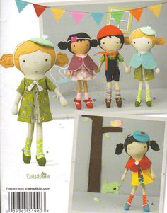 Dolls and Clothes Pattern 5 Sweet Doll sewn by JanetsCreations77. , via Etsy.