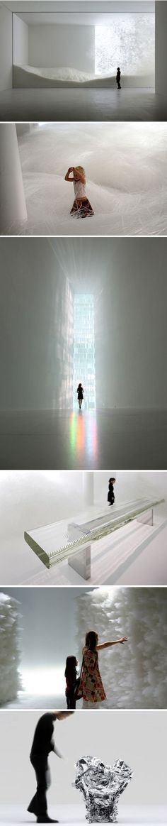 "Tokujin Yoshioka creates interiors, installations and architecture where people can feel the light with all their senses. He explores beauty born out of coincidence and beyond human imagination; his work echoes the beauty of nature with its ever-changing expression, giving the idea ""that the design doesn't even exist"". #Arts Design"