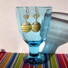 Earrings in white yellow and gold with silver by SaijaSkills, €8.00