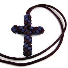 Paracord Cross Necklace - YOU Pick the Colors. $6.00, via Etsy.
