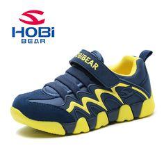 20e8616f0 Niños zapatos niños niñas zapatos corrientes zapatos de Gamuza De Tela  respirable Cómodo Al Aire Libre gancho   loop calzados casuales HOBIBEAR  AS3365