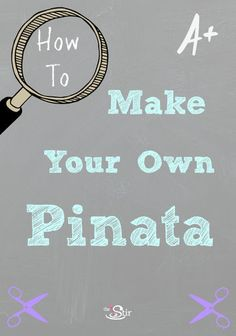 Kids birthday party pinatas are so expensive: why not make your own? http://thestir.cafemom.com/toddler/104230/make_your_own_pinata_kids?utm_medium=sm_source=pinterest_content=thestir
