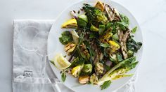 Grilled Vegetable Salad with Raw Green Mole Recipe   Bon Appetit