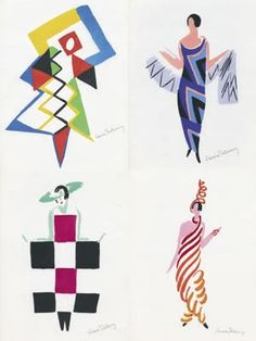 Illustration by Sonia Delaunay. via Chang Chang Chang Milano So inspiring, so twenties! Very contemporary right now, xox Peg Sonia Delaunay, Robert Delaunay, Cubism Fashion, Stage Set Design, Guache, Paris, Art Plastique, Fashion Illustrations, Geometric Shapes