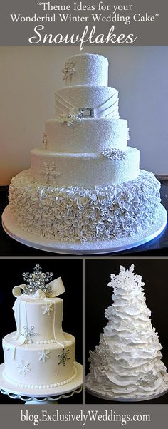 theme-ideas-for-your-wonderful-winter-wedding-cake-snowflakes.jpg 529×1,350 pixels