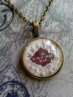 Harry Potter Marauder's Map Necklace@ericathomasson