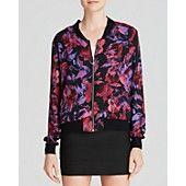 $65.28 AQUA Jacket - Stella Floral Bomber