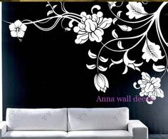 Peony: wall decals, children wall decals,vinyl wall decal, wall stickers,flowers wall decals,peony wall decals sur Etsy, $83.87 CAD