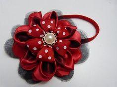 tutorial moños y flores en cinta para el cabello paso a paso.Manualidadeslahormiga - YouTube