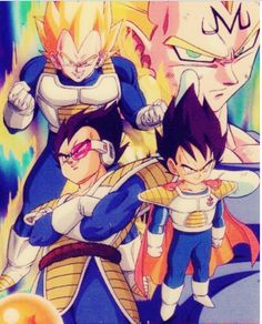 Vegeta- all the awesome versions