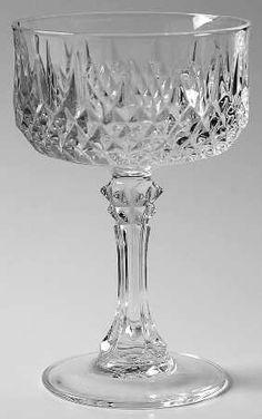 Cristal D'Arques Longchamp - Champagne Coupes