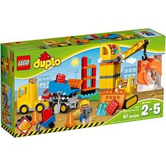 Little construction workers will love these three buildable machines. Clear the site with the tracked bulldozer before tipping new building supplies from the truck. Then use the crane with its claw a...