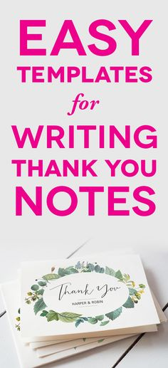 How to write the perfect thank you note l Britney Termale Thanks