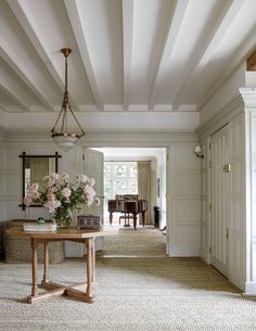 Interior designer Ben Pentreath turns his hand to an Arts and Crafts house - Entrance hall – designed by Ben Pentreath for the Duke and Duchess of Cambridge. Arts And Crafts Interiors, Arts And Crafts House, Home Crafts, House Interiors, Rustic Style, Farmhouse Style, Country Style, Happy House, House Entrance