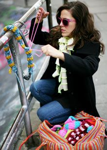 Yarn bombing...must do as soon as the snow melts!
