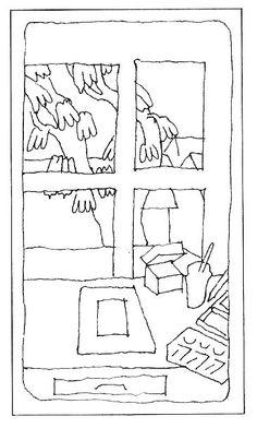 Peter Schmidt - Look at September, Look at October, line drawing