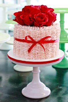 red rose mini cake...