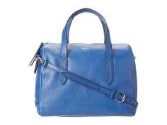 Fossil Sydney Satchel Brown - $178 in cobalt blue