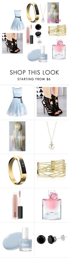 """""""Nyssa Goes to the Calypso Labs For Their Swapping Genetics Opening Night With Andrew"""" by rosemarie-lestrange ❤ liked on Polyvore featuring Mateo, Fitbit, MAC Cosmetics and Lancôme"""
