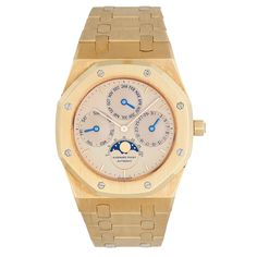 Audemars Piguet Yellow Gold Royal Oak Perpetual Calendar Bracelet Watch