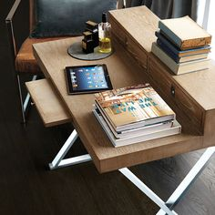 Circa Desk / Dressing Table. Hidden drawers and a neat footprint make the Circa Nested Tables an ideal addition for smaller homes. Similarly, the versatile Circa Desk could also double-up as a dressing table, or vice versa. #oka #circa #table #desk