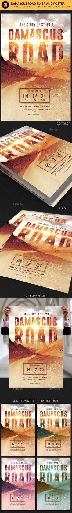 Damascus Road Flyer Poster Template — Photoshop PSD #history #bible • Available here → https://graphicriver.net/item/damascus-road-flyer-poster-template/14746297?ref=pxcr