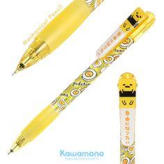 Sanrio Gudetama 0.5mm Mechanical Pencil  Sliced Egg Pattern Yellow Tube from Japan  Lazy egg cute pattern pen, #sanrio #gudetama #lazyegg #MechanicalPencil #egg #slicedegg #Pencil #stationery #pen #onlineshop #shopping #cute #kawaii #kawaiishop #gifts #worldwideship #internationalship